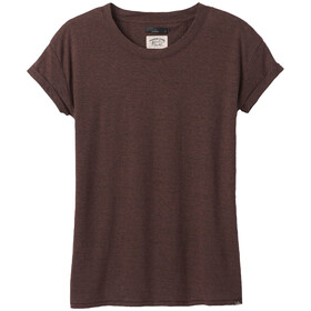 Prana Cozy Up T-Shirt Donna, cocoa heather